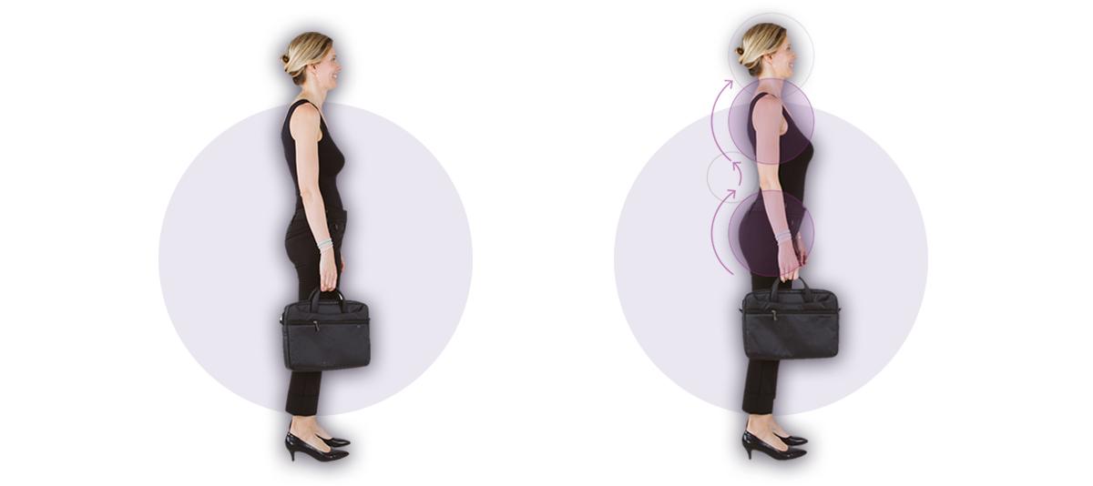 Foto explicativa postural de chica, práctica de bowspring